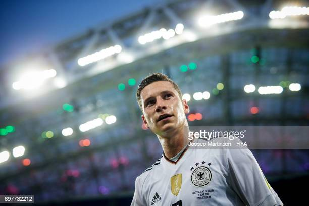 Julian Draxler of Germany walks off the pitch after the FIFA Confederations Cup Russia 2017 group B football match between Australia and Germany at...