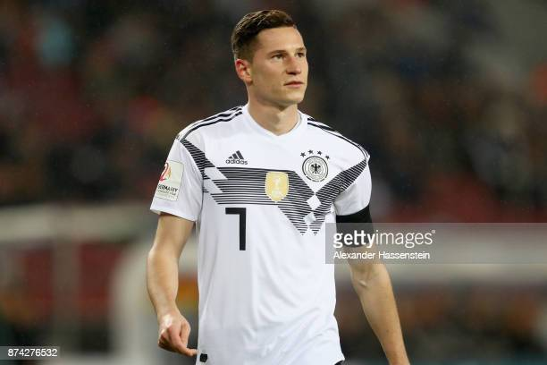 Julian Draxler of Germanylooks on during the international friendly match between Germany and France at RheinEnergieStadion on November 14 2017 in...