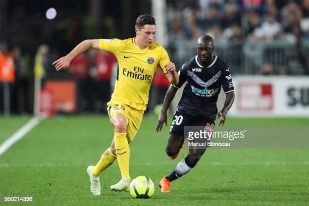 Julian Draxler of Paris during the Ligue 1 match between FC Girondins de Bordeaux and Paris Saint Germain at Stade Matmut Atlantique on April 22 2018...