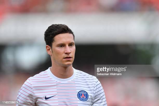 Julian Draxler of Paris looks on prior to the pre-season friendly match between 1. FC Nuernberg and Paris Saint-German at Max-Morlock-Stadion on July...