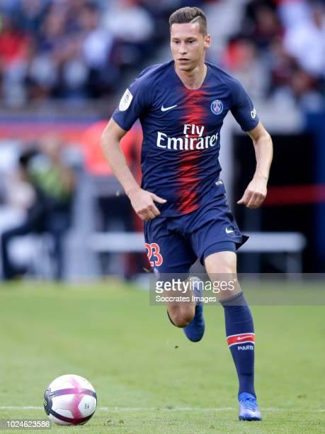 Julian Draxler of Paris Saint Germain during the French League 1 match between Paris Saint Germain v Angers at the Parc des Princes on August 25 2018...
