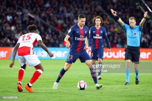Julian Draxler of Paris Saint Germain during the Ligue 1 match between Paris Saint Germain and Reims at Parc des Princes on September 26 2018 in...