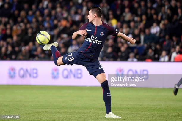 Julian Draxler of Paris Saint Germain during the PSV trophy celebration at the Philips Stadium on April 15 2018 in Eindhoven Netherlands