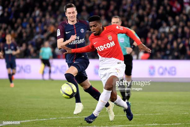 Julian Draxler of Paris Saint Germain Jemerson of AS Monaco during the PSV trophy celebration at the Philips Stadium on April 15 2018 in Eindhoven...