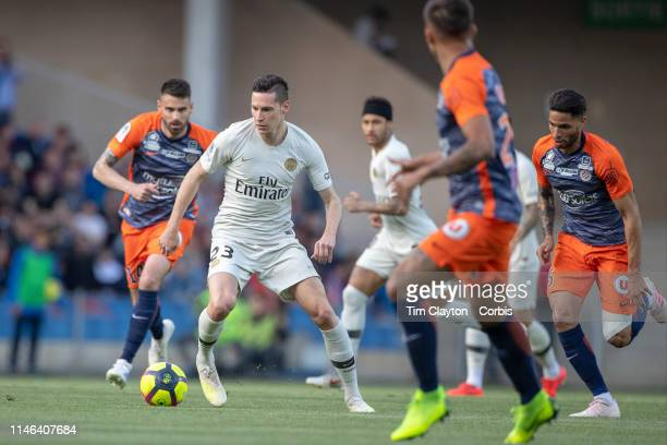 Julian Draxler of Paris SaintGermain in action during the Montpellier Vs Paris SaintGermain French Ligue 1 regular season match at Stade de la Mosson...