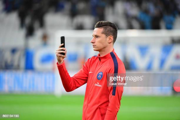 Julian Draxler of PSG before the Ligue 1 match between Olympique Marseille and Paris Saint Germain at Stade Velodrome on October 22 2017 in Marseille...
