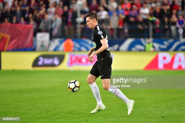 Julian Draxler of PSG during the French Cup Semi Final match between Caen and Paris Saint Germain on April 18 2018 in Caen France