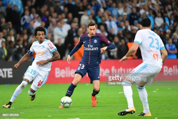 Julian Draxler of PSG during the Ligue 1 match between Olympique Marseille and Paris Saint Germain at Stade Velodrome on October 22 2017 in Marseille...