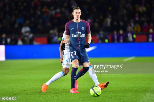 Julian Draxler of PSG during the Ligue 1 match between Paris Saint Germain and Olympique Marseille at Parc des Princes on February 25 2018 in Paris...