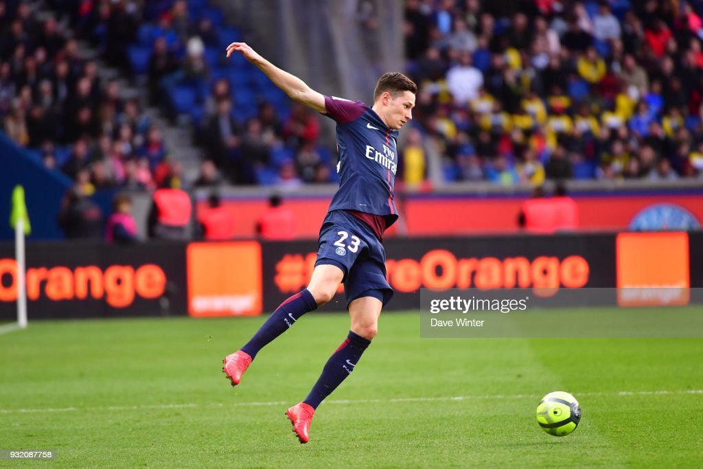 Julian Draxler of PSG during the Ligue 1 match between Paris Saint Germain (PSG) and Angers SCO on March 14, 2018 in Paris, France.