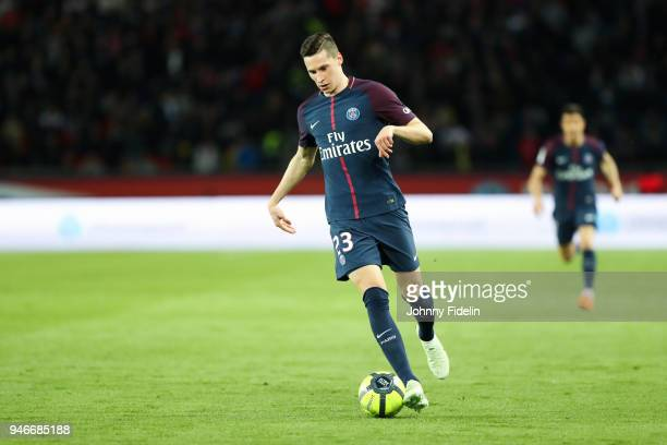 Julian Draxler of PSG during the Ligue 1 match between Paris Saint Germain PSG and AS Monaco at Parc des Princes on April 15 2018 in Paris