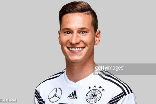 Julian Draxler poses for a photo during a portrait session ahead of the 2018 FIFA World Cup Russia at Eppan training ground on June 5 2018 in Eppan...