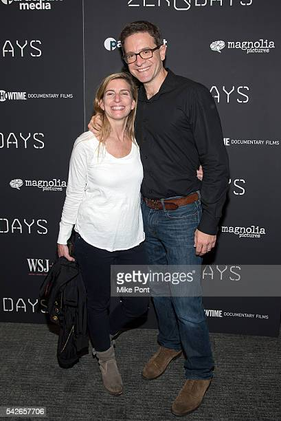 Julian E Zelizer and Meg Jacobs attend the Zero Days New York Premiere at New York Institute of Technology on June 23 2016 in New York City