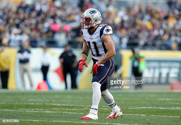 Julian Edelman of the New England Patriots in action against the Pittsburgh Steelers at Heinz Field on October 23 2016 in Pittsburgh Pennsylvania