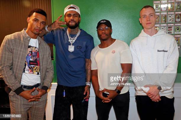 Julian Elijah Martinez, Dave East, Marcus Callender, and DJ Skee attend the Wu-Tang: An American Saga Season 2 Premiere Watch Party with DJ SKEE at...