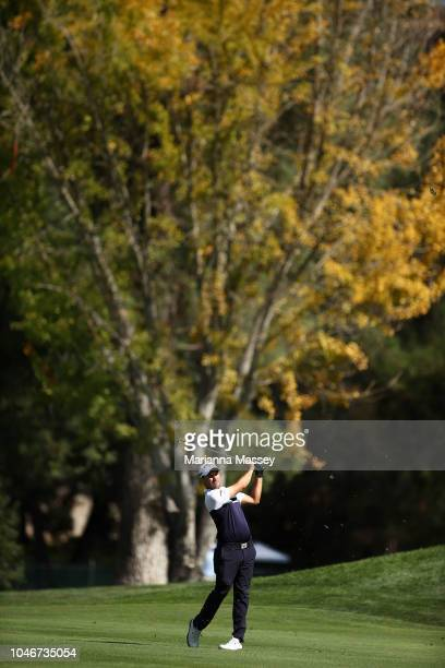 Julian Etulain of Argentina plays his shot on the sixth hole during the third round of the Safeway Open at the North Course of the Silverado Resort...