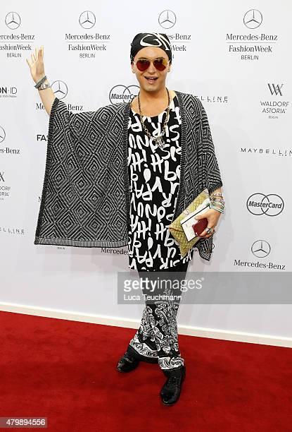 Julian F M Stoeckel attends the Rebekka Ruetz show during the MercedesBenz Fashion Week Berlin Spring/Summer 2016 at Brandenburg Gate on July 8 2015...