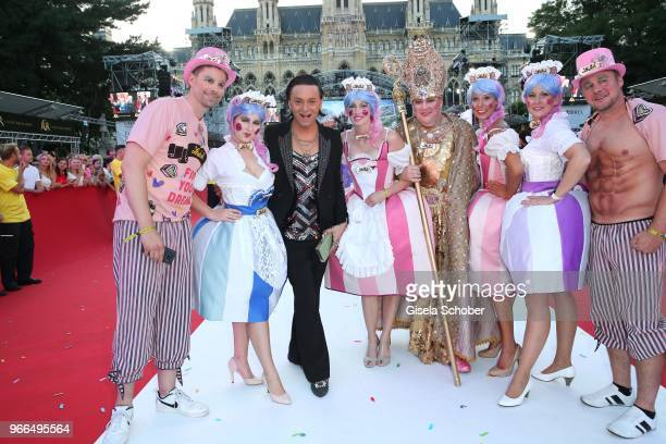 Julian F M Stoeckel during the Life Ball 2018 at City Hall on June 2 2018 in Vienna Austria The Life Ball an annual charity event raising funds for...