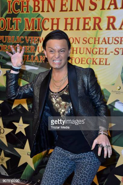 Julian F M Stoeckel during the Public Viewing Of the TV Show 'Ich bin ein Star Holt mich hier raus' on January 19 2018 in Berlin Germany