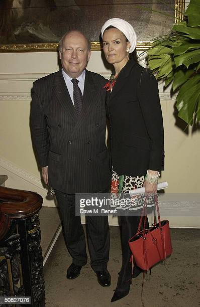 Julian Fellowes and Emma Fellowes attends a private view for new Art Deco Icon exhibition by Russian artist Tamara de Lempicka at The Royal Academy...