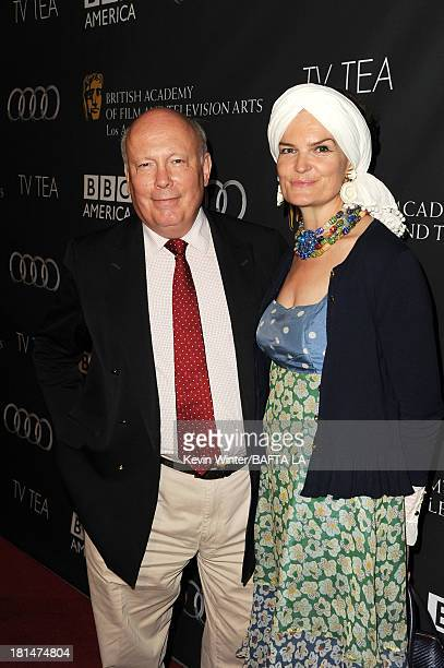 Julian Fellowes and Emma Joy Kitchener attend the BAFTA LA TV Tea 2013 presented by BBC America and Audi held at the SLS Hotel on September 21 2013...