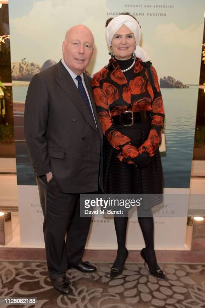 Julian Fellowes and Emma Joy Kitchener attend the Fifth annual Newport Beach Film Festival UK Honours at The Langham Hotel on February 07 2019 in...