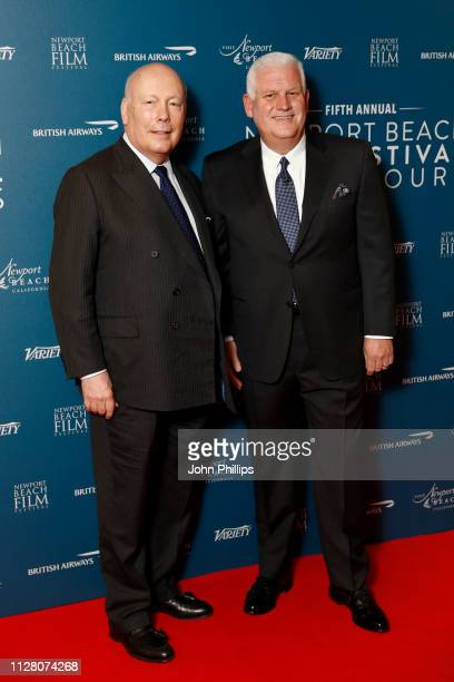 Julian Fellowes and Gary Sherwin attend the Newport Beach Film Festival UK honours event at The Langham Hotel on February 07 2019 in London England