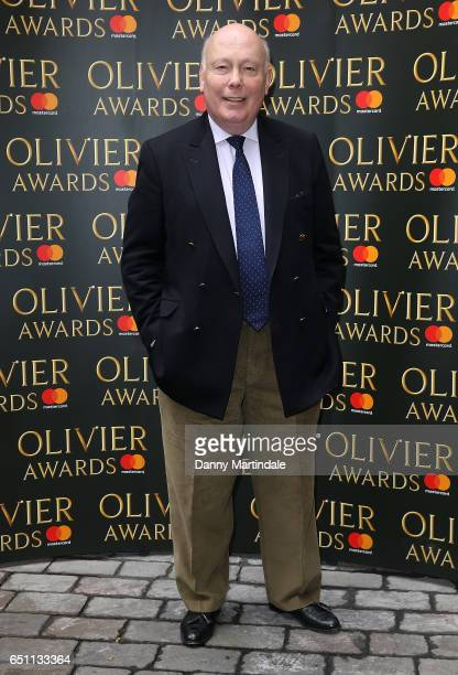 Julian Fellowes attends the Olivier Awards nominations celebration on March 10 2017 in London United Kingdom