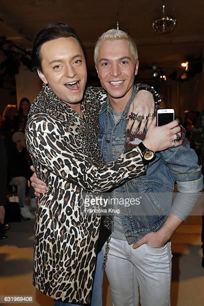Julian FM Stoeckel and Julian David attend the Rebekka Ruetz show during the MercedesBenz Fashion Week Berlin A/W 2017 at Kaufhaus Jandorf on January...