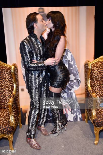 Julian FM Stoeckel and Micaela Schaefer during the event 'Julian FM Stoeckel Friends die Show' on April 24 2018 in Berlin Germany