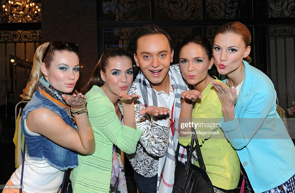 Julian FM Stoeckel Poses With Models During The Ernstings Family Fashion Dinner At Rilano No