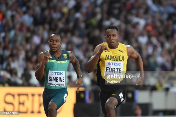 Julian FORTE, Jamaica, during 100 meter first round at London Stadium in London on August 4, 2017 at the 2017 IAAF World Championships athletics.