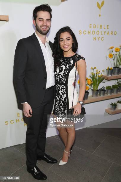Julian Galano and Katerina Svigos attend Edible Schoolyard NYC 2018 Spring Benefit at 180 Maiden Lane on April 16 2018 in New York City