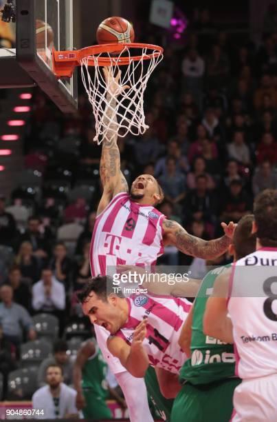 Julian Gamble of Bonn in action during the Basketball Champions League match between Telekom Baskets Bonn and Stelmet Zielona Gora at Telekom Dome on...