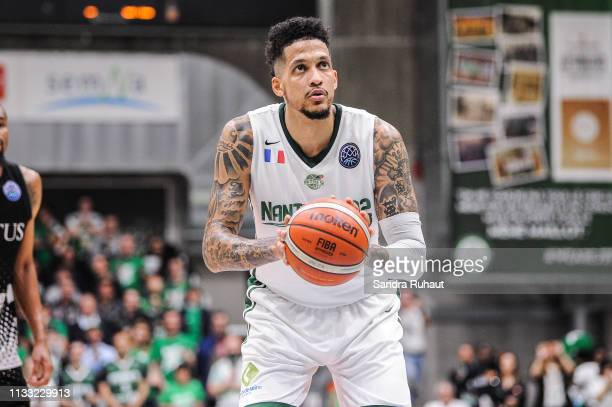 Julian Gamble of Nanterre during the Champions League match between Nanterre and Virtus Bologne at Palais des Sports Maurice Thorez on March 27 2019...