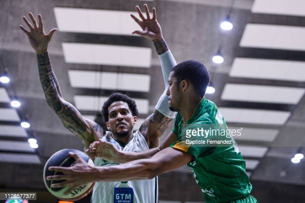 Julian Gamble of Nanterre during the French Jeep Elite Basketball match between Nanterre 92 and Limoges CSP at Palais des Sports Maurice Thorez on...