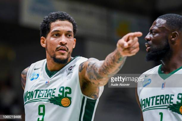 Julian Gamble of Nanterre during the Jeep Elite match between Nanterre 92 and Champagne Chalons Reims Basket at Palais des Sports Maurice Thorez on...
