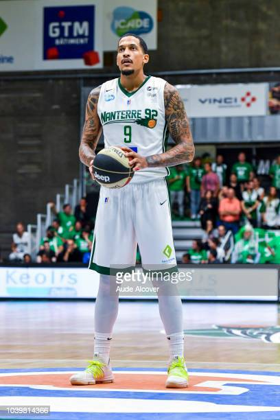 Julian Gamble of Nanterre during the Jeep Elite match between Nanterre and Bourg en Bresse on September 24 2018 in Nanterre France