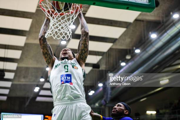 Julian Gamble of Nanterre during the Jeep Elite match between Nanterre and Antibes at Palais des Sports Maurice Thorez on December 8 2018 in Nanterre...