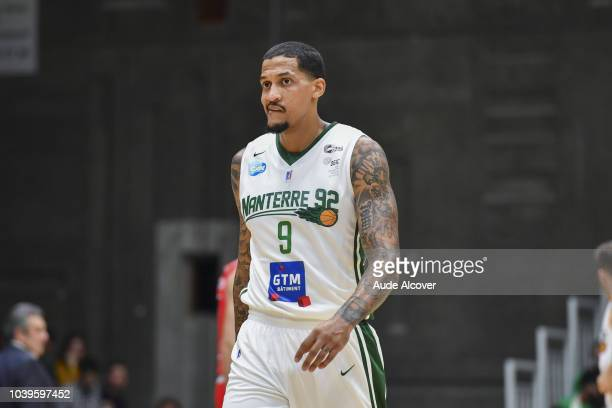 Julian Gamble of Nanterre looks dejected during the Jeep Elite match between Nanterre and Bourg en Bresse on September 24 2018 in Nanterre France