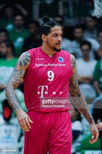 Julian Gamble of Telekom Bonn during the 1/2Final First Leg FIBA Cup Europe match between Nanterre and Bonn at Palais des Sports Maurice Thorez on...