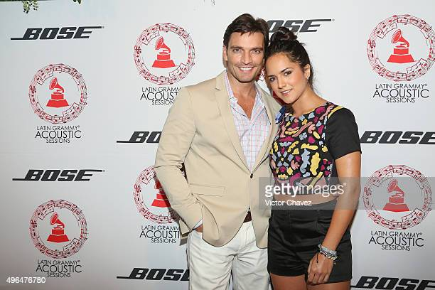 Julian Gil and guest attend the Latin Grammy Acustic Sessions at Estacion Indianillas on November 9 2015 in Mexico City Mexico