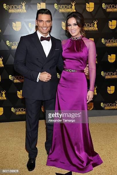 Julian Gil and Viviana Serna attends Premios Univision Deportes 2015 at Univision Studios on December 20 2015 in Miami Florida