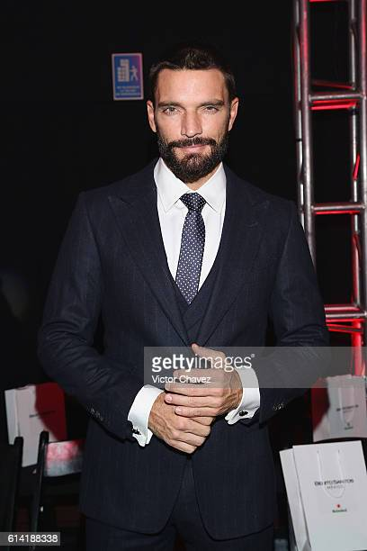 Julian Gil attends the second day of MercedesBenz Fashion Week Mexico Spring/Summer 2017 at Maria Isabel Sheraton hotel on October 11 2016 in Mexico...