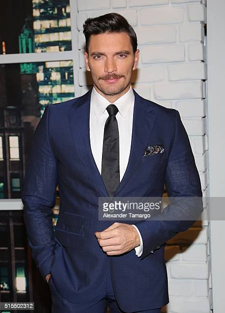 Julian Gil is seen backstage on the set of 'Nuestra Belleza Latina' at Univision Studios on March 13 2016 in Miami Florida