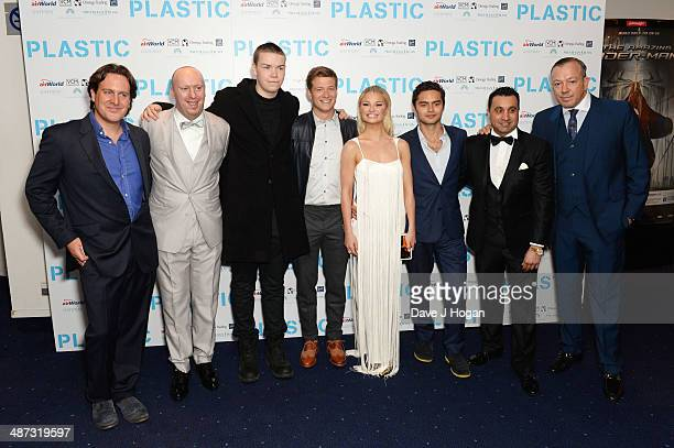 Julian Gilby Chris Howard Will Poulter Ed Speleers Emma Rigby Sebastian De Souza Saqib Ahmed and Terry Stone attend the UK premiere of 'Plastic' on...