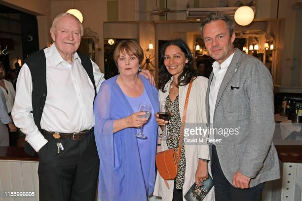 Julian Glover Isla Blair Sasha Behar and Jamie Glover attend the press night after party for The Night Of The Iguana at Browns on July 16 2019 in...