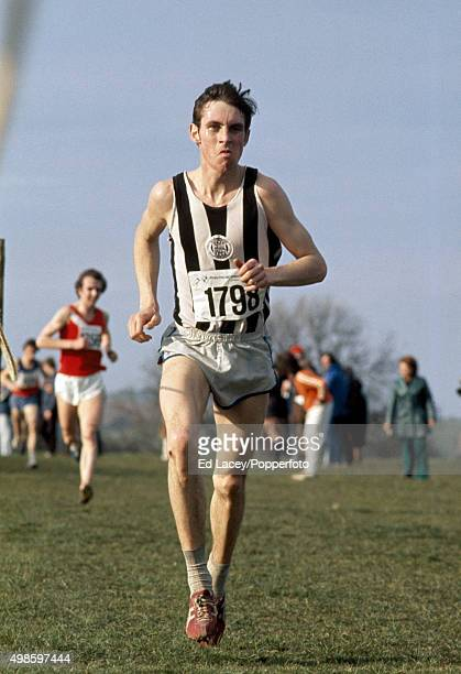 Julian Goater of Great Britain in action during the National Cross Country Championships circa 1975