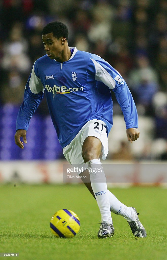Julian Gray of Birmingham City in action during the Barclays Premiership match between Birmingham City and West Ham United at St Andrews Road on December 5, 2005 in Birmingham, England.