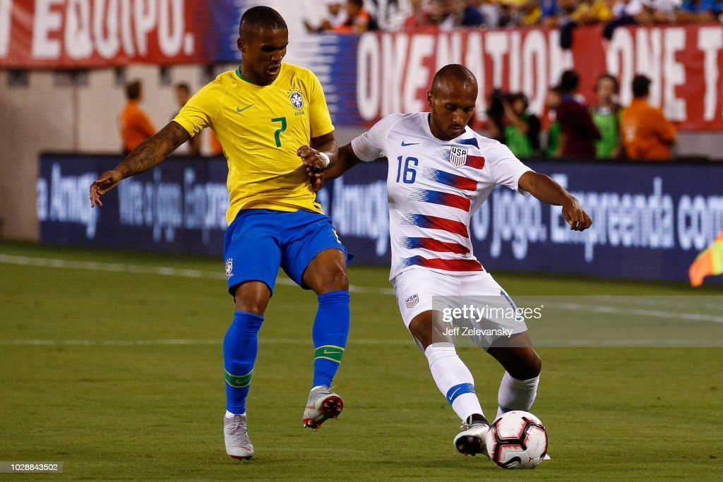Brazil v United States : News Photo